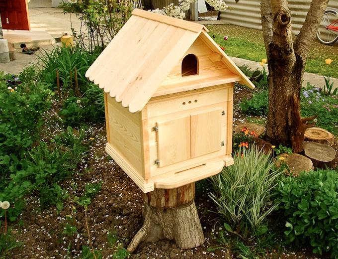 Домики для диких пчел своими руками 10